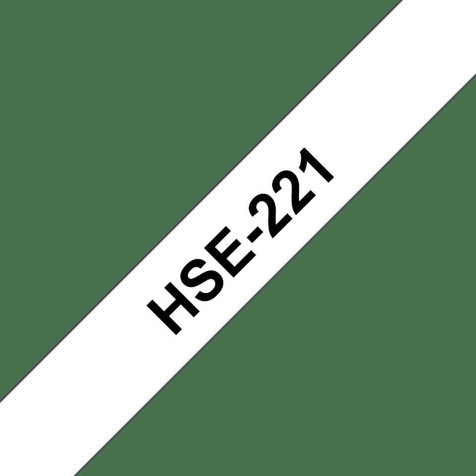 Originele Brother HSE-221 krimpkous tapecassette - zwart op wit, voor 2,6 - 5,1 mm diameter