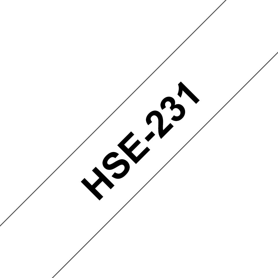 Originele Brother HSe-231 krimpkous tape cassette – zwart op wit, breedte 11,7 mm 3
