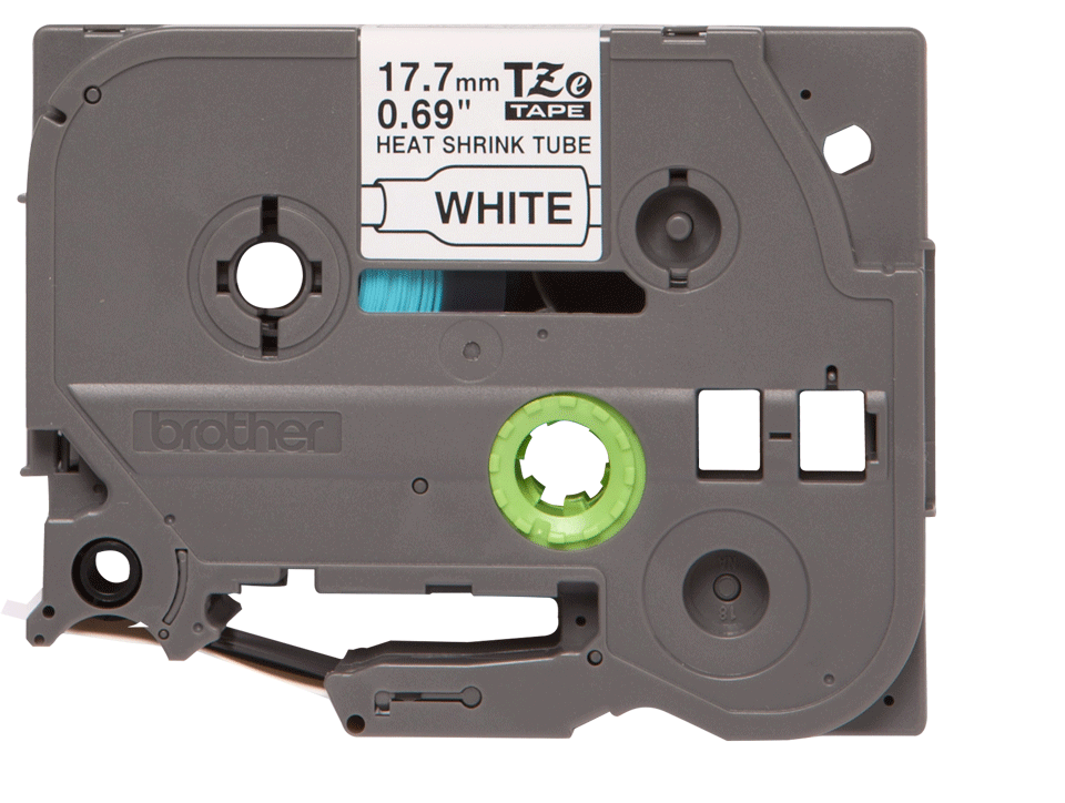 Originele Brother HSe-241 krimpkous tape cassette – zwart op wit, breedte 17,7 mm 2