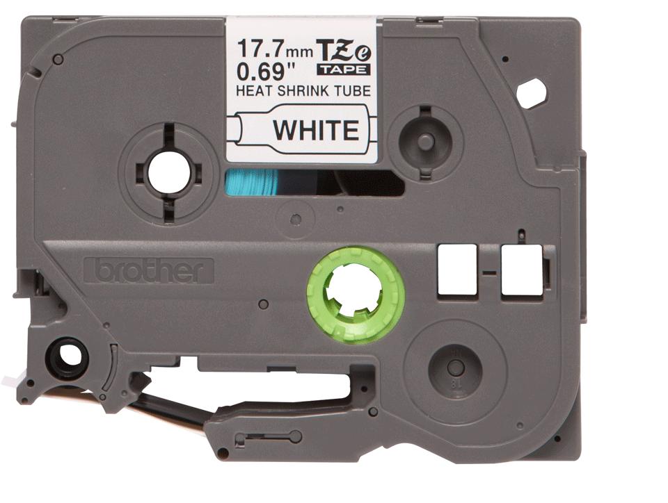 Originele Brother HSe-241 krimpkous tape cassette – zwart op wit, voor 5,4 - 10,6 mm diameter 2