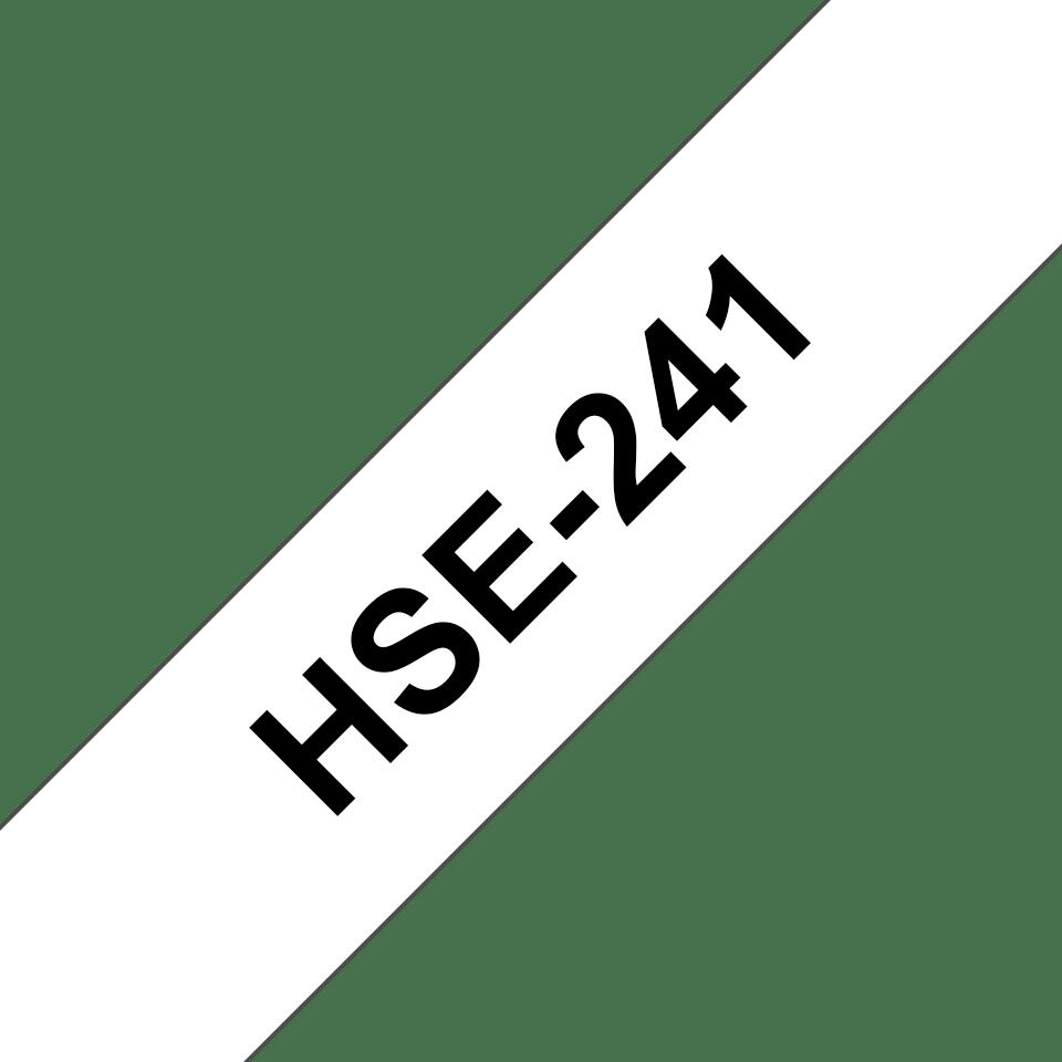 Originele Brother HSe-241 krimpkous tape cassette – zwart op wit, breedte 17,7 mm