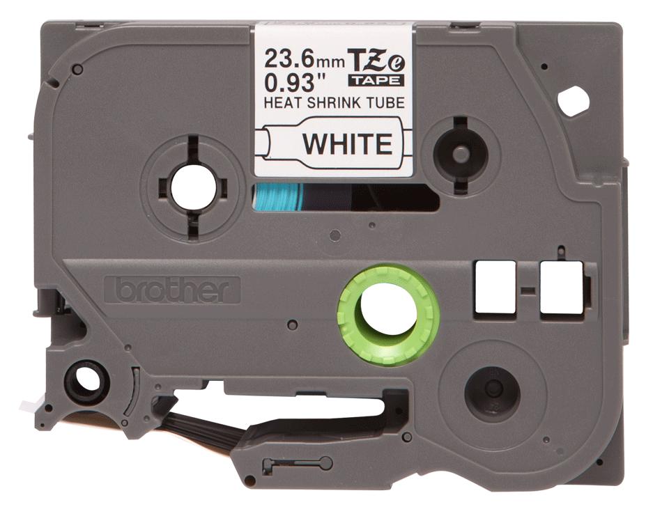 Originele Brother HSe-251 krimpkous tape cassette – zwart op wit, breedte 23,6 mm 2