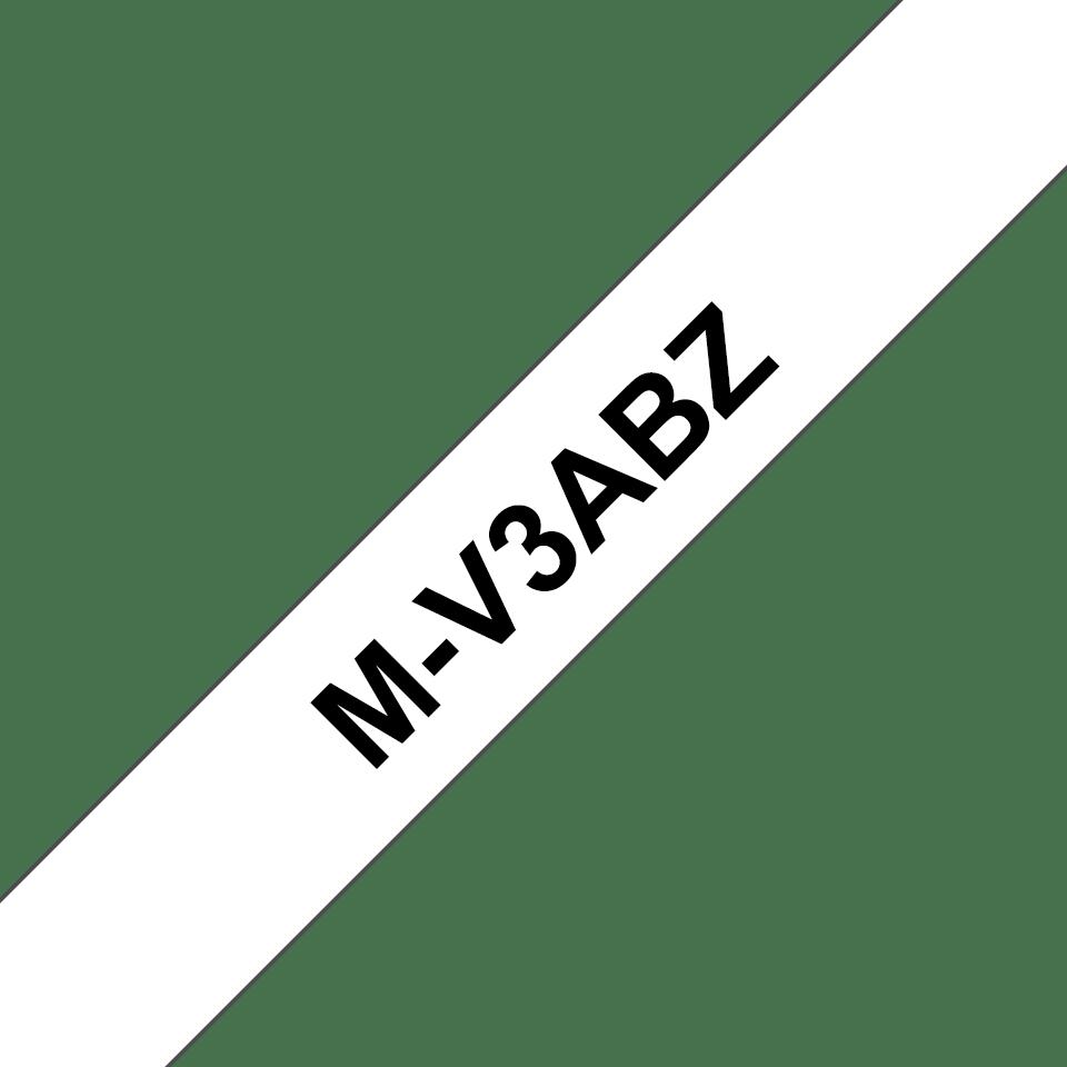 Originele Brother M-V3ABZ labeltape – zwart op wit, voordeelverpakking
