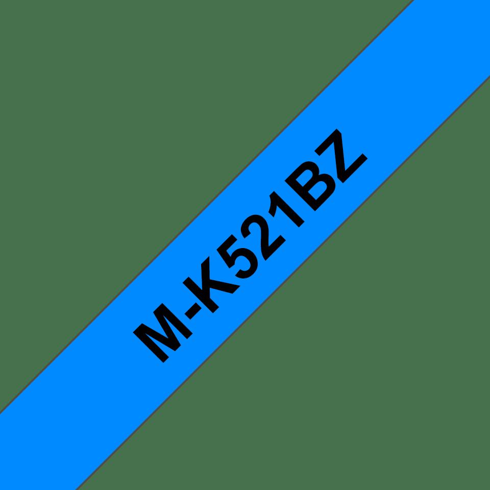 Originele Brother M-K521BZ label tapecassette – zwart op blauw, breedte 9 mm
