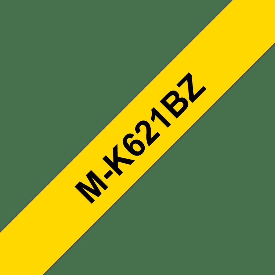 Originele Brother M-K621BZ label tapecassette – zwart op geel, breedte 9 mm
