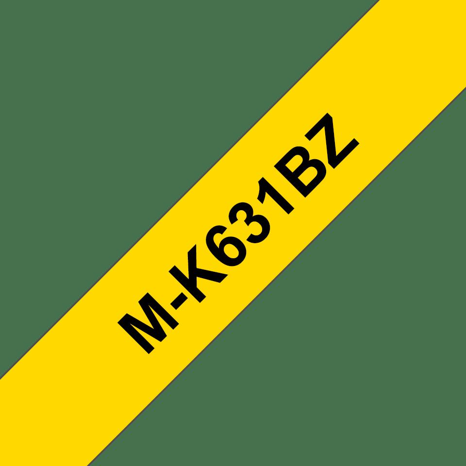 Originele Brother M-K631BZ label tapecassette – zwart op geel, breedte 12 mm