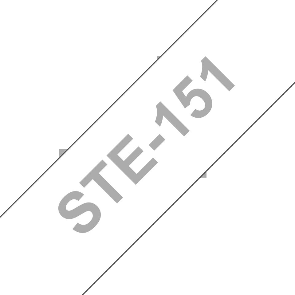 Originele Brother STe-151 stenciltapecassette – zwart, breedte 24 mm