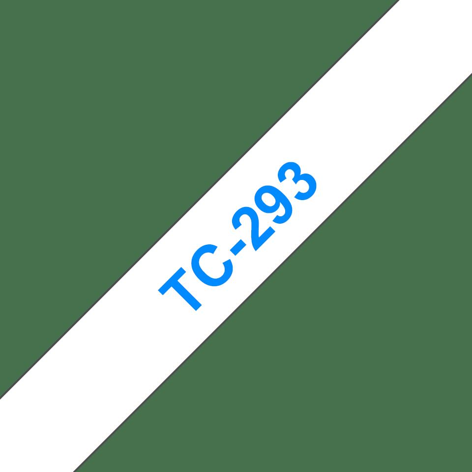 Originele Brother TC-293 label tapecassette – blauw op wit, breedte 9mm