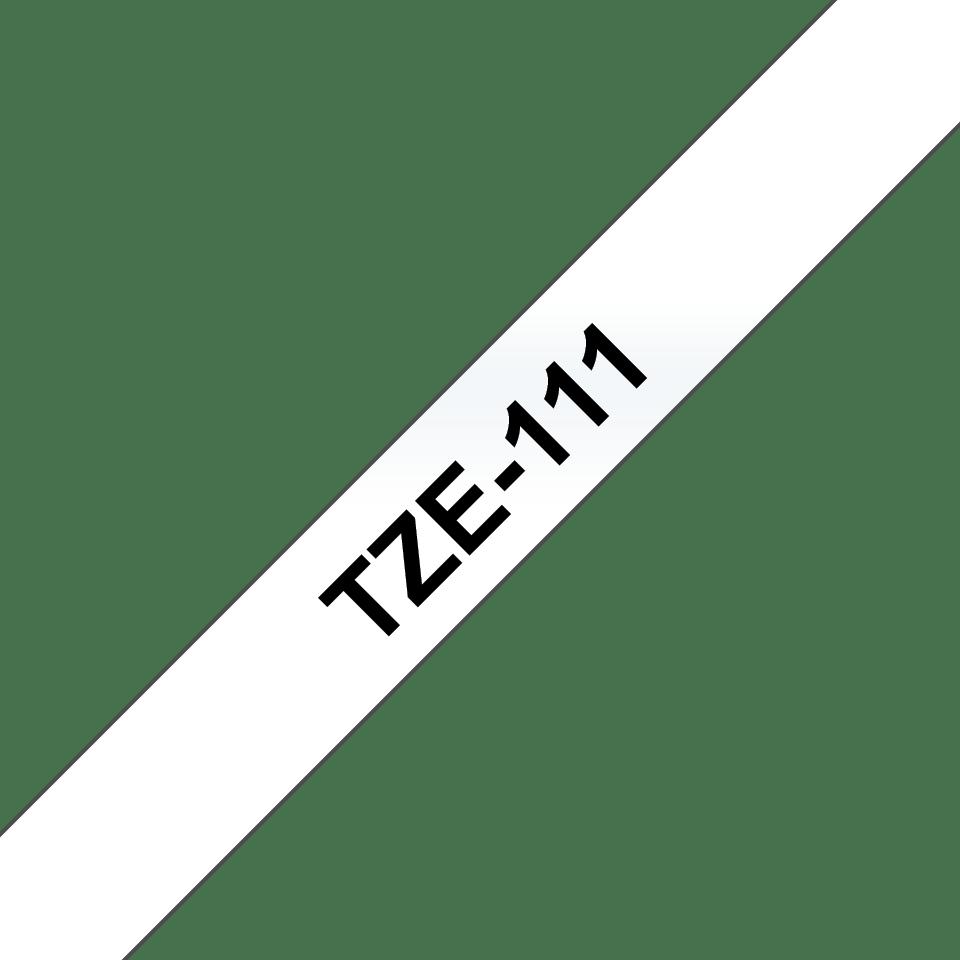 Originele Brother TZe-111 label tapecassette – zwart op transparant, breedte 6 mm