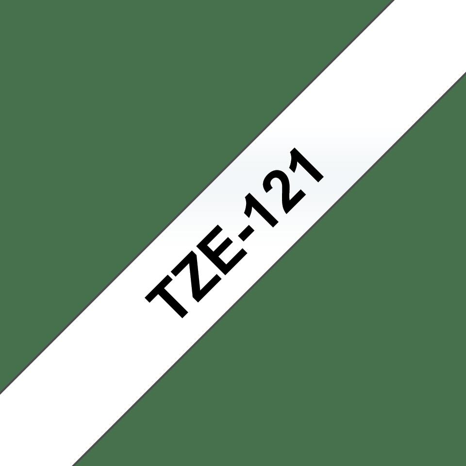 Originele Brother TZe-121 label tapecassette – zwart op transparant, breedte 9 mm