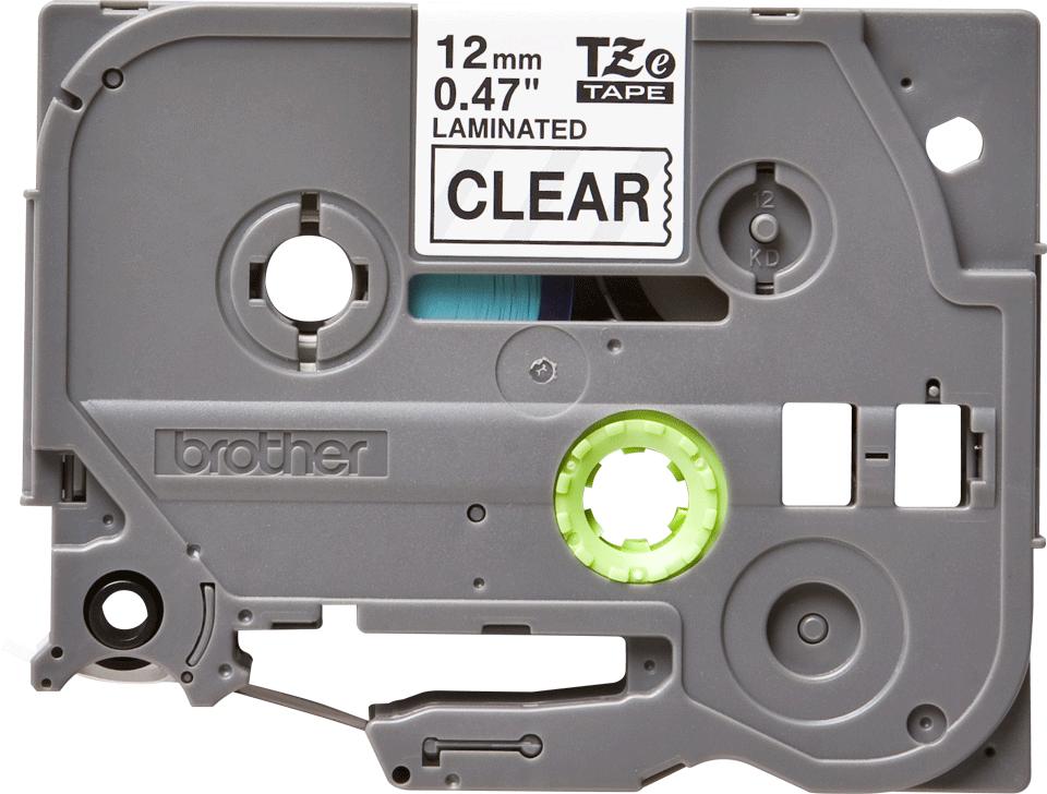 Originele Brother TZe-131 labeltape – zwart op transparant, breedte 12 mm