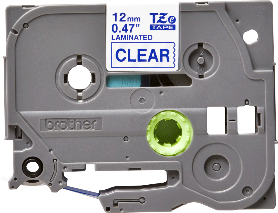 Originele Brother TZe-133 label tapecassette – blauw op transparant, breedte 12 mm 2