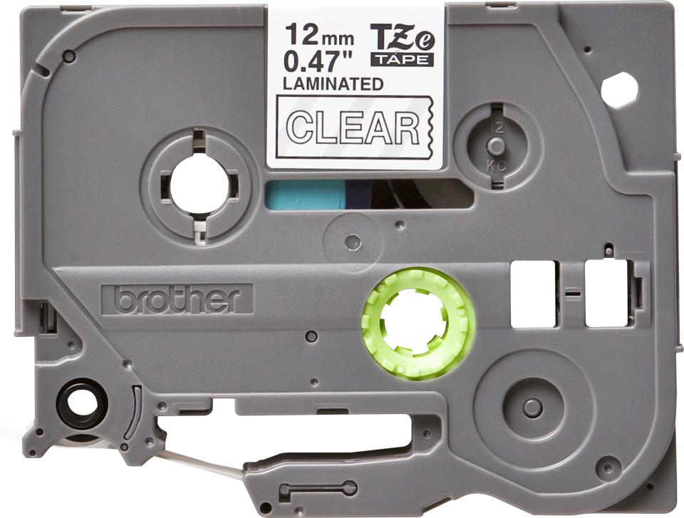Originele Brother TZe-135 label tapecassette – wit op transparant, breedte 12 mm 2