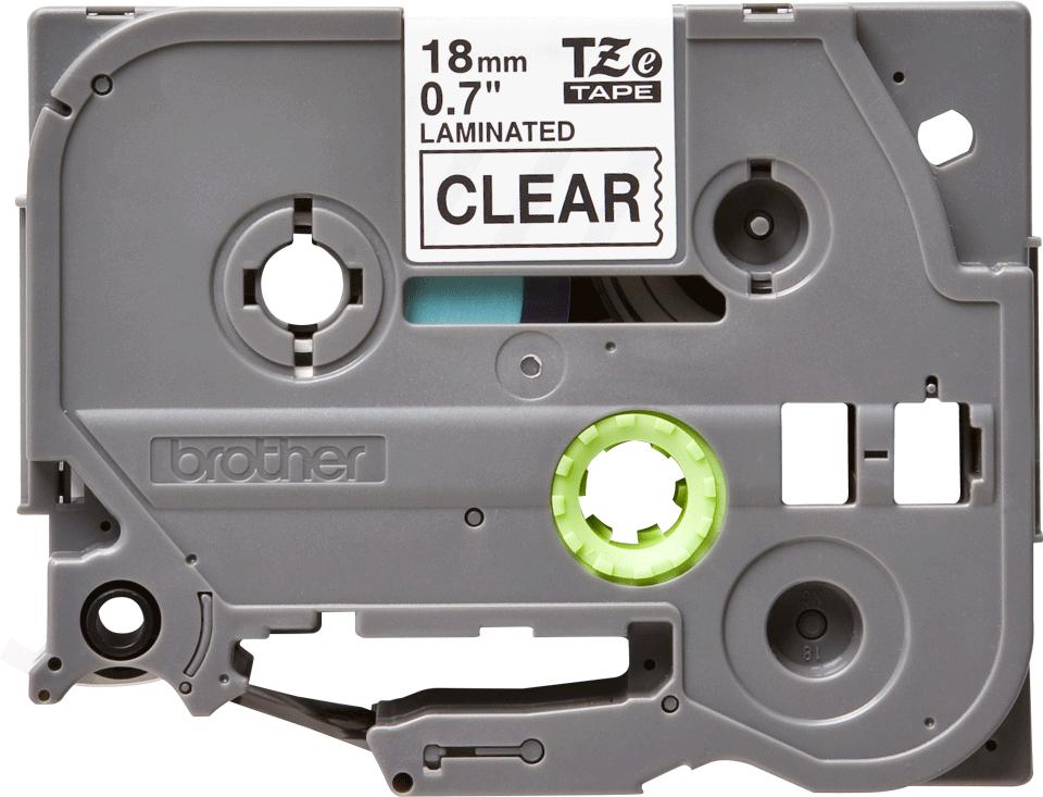 Originele Brother TZe-141 label tapecassette – zwart op transparant, breedte 18 mm 2