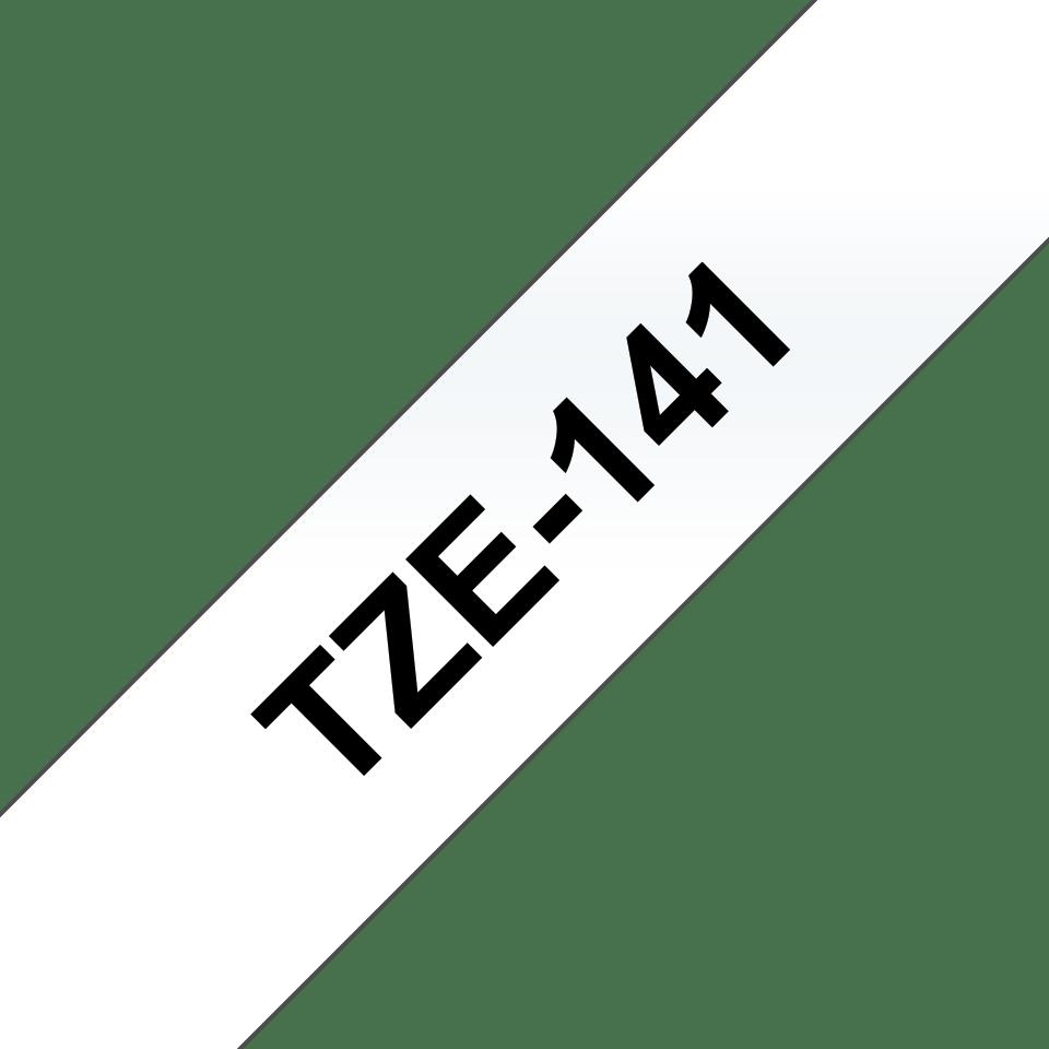 Originele Brother TZe-141 label tapecassette – zwart op transparant, breedte 18 mm