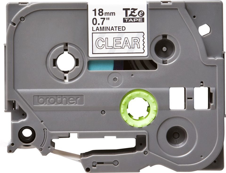 Originele Brother TZe-145 label tapecassette – wit op transparant, breedte 18 mm 2
