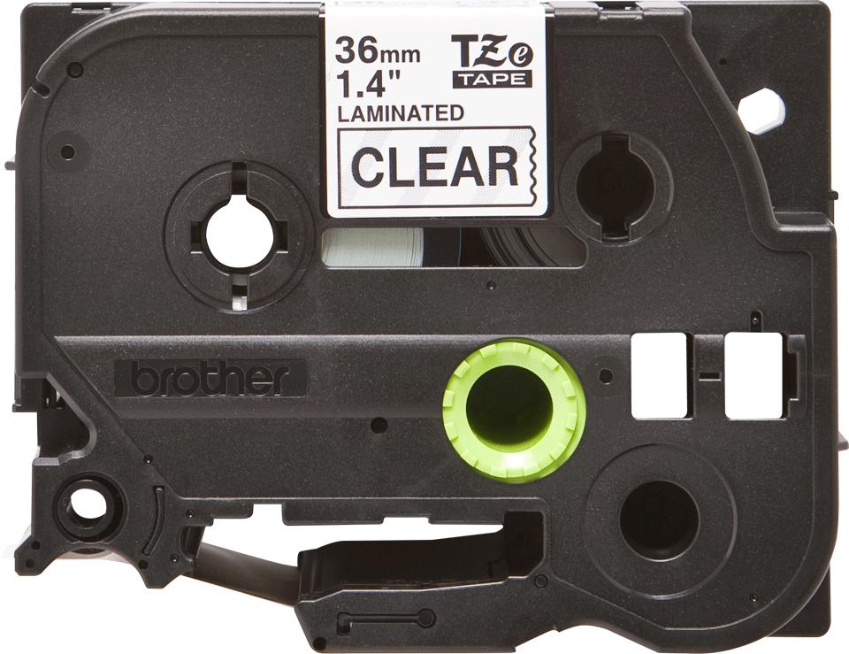 Originele Brother TZe-161 label tapecassette – zwart op transparant, breedte 36 mm 2
