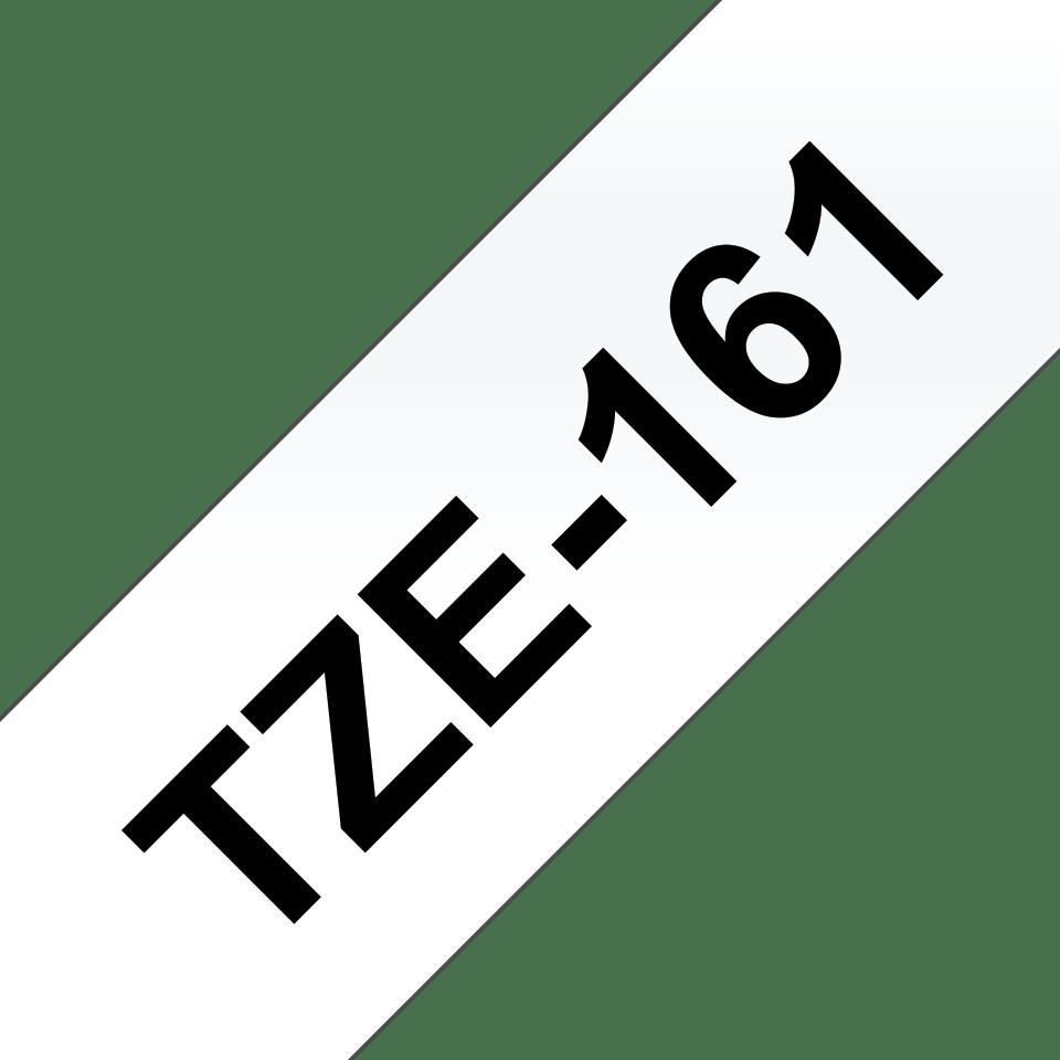 Originele Brother TZe-161 label tapecassette – zwart op transparant, breedte 36 mm