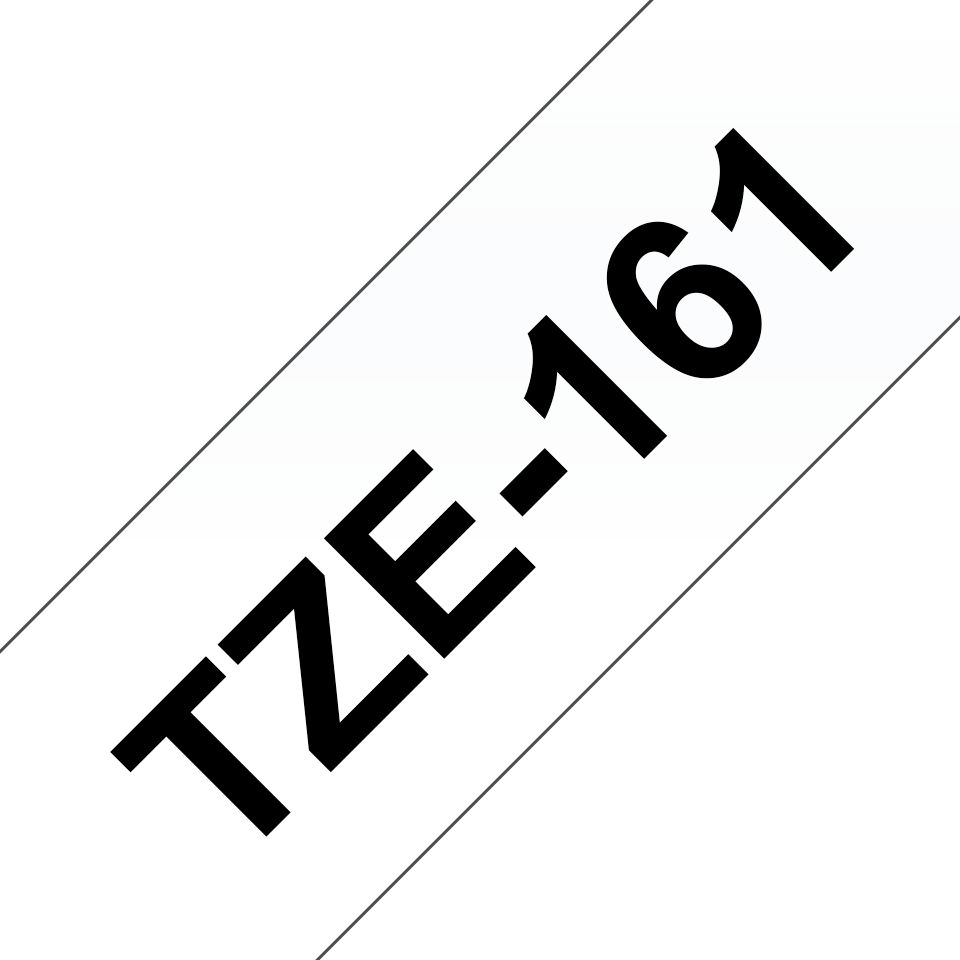 Originele Brother TZe-161 label tapecassette – zwart op transparant, breedte 36 mm