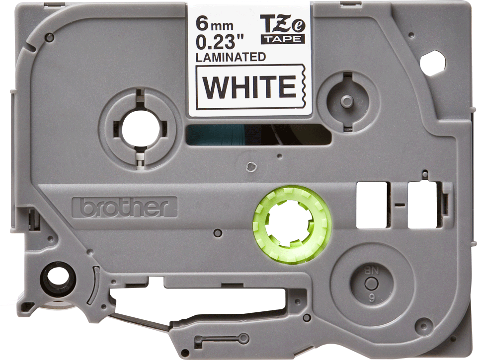 Originele Brother TZe-211 label tapecassette – zwart op wit, breedte 6 mm 2