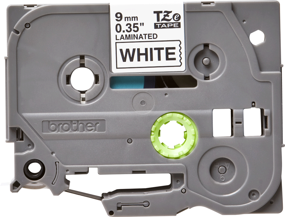 Originele Brother TZe-221 labeltape – zwart op wit, breedte 9 mm 2