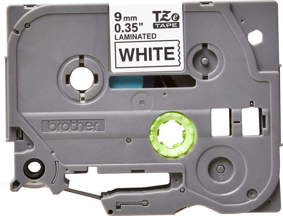 Originele Brother TZe-221 labeltape – zwart op wit, breedte 9 mm