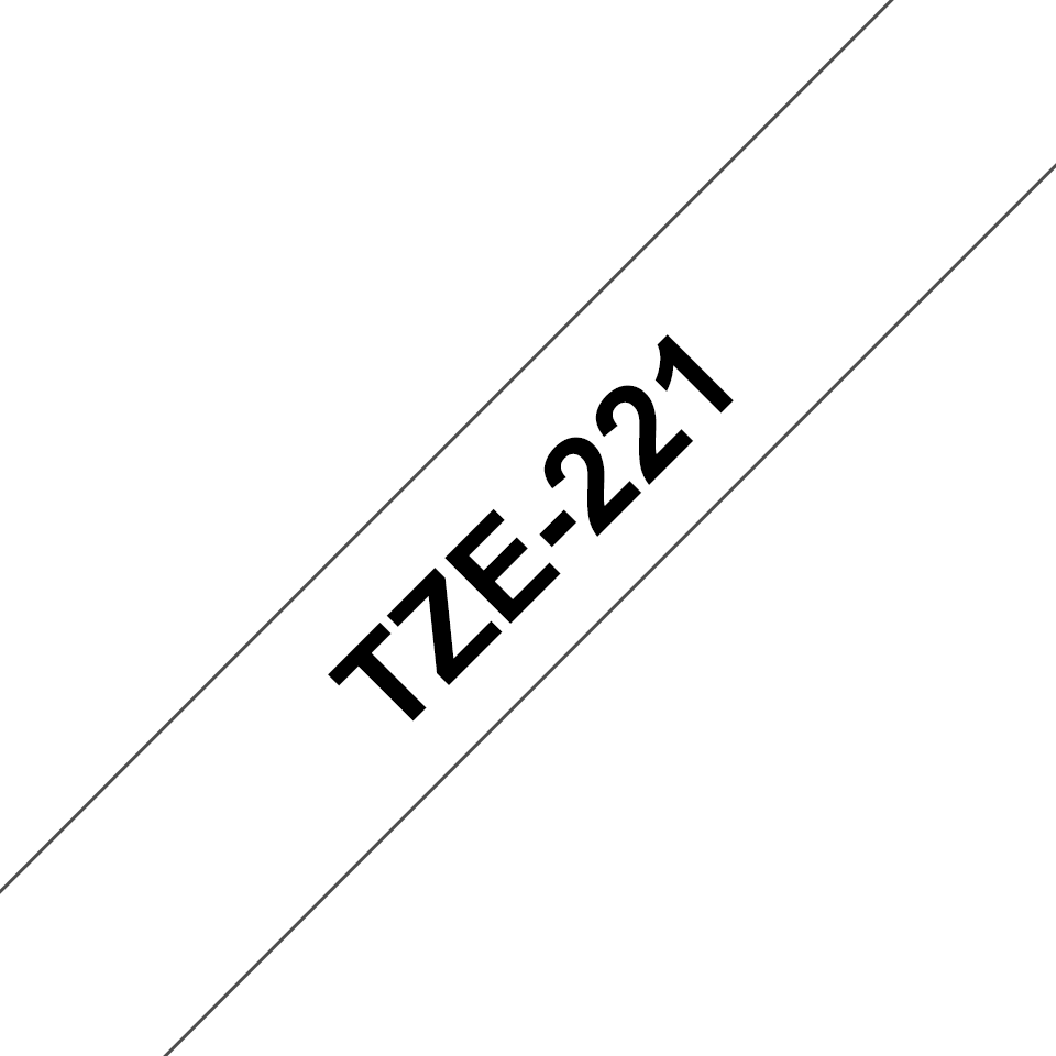Originele Brother TZe-221 labeltape – zwart op wit, breedte 9 mm 3