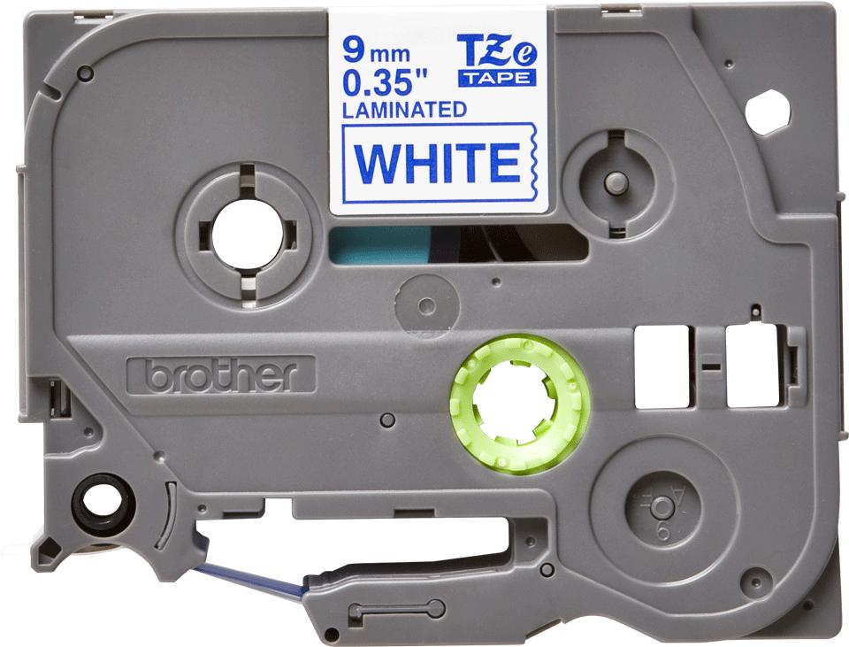 Originele Brother TZe-223 label tapecassette – blauw op wit, breedte 9 mm 2
