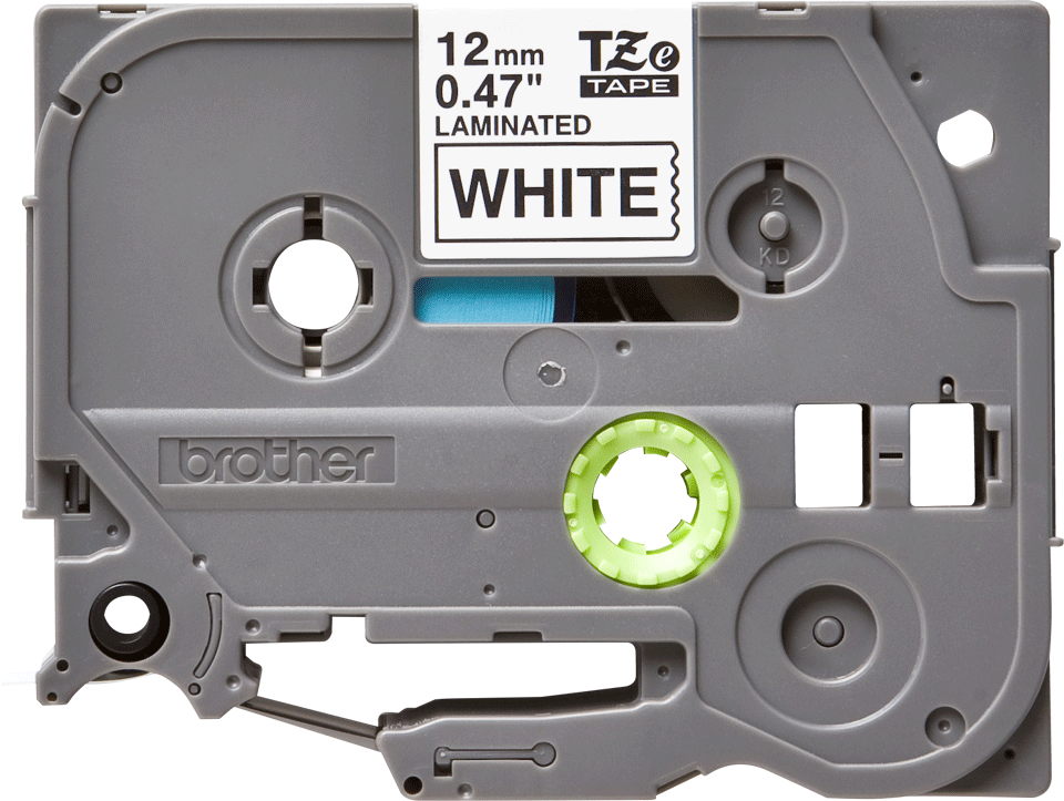 Originele Brother TZe-231 labeltape – zwart op wit, breedte 12 mm 2