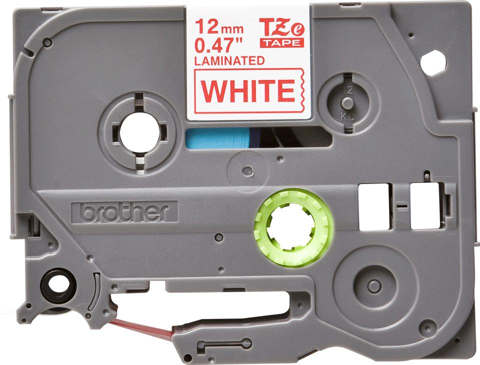 Originele Brother TZe-232 label tapecassette – rood op wit, breedte 12 mm 2