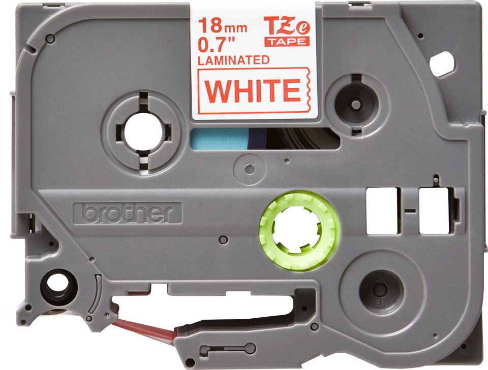 Originele Brother TZe-242 label tapecassette – rood op wit, breedte 18 mm 2