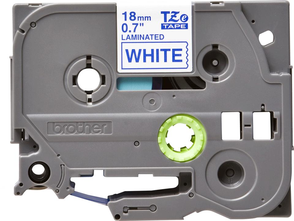 Originele Brother TZe-243 label tapecassette – blauw op wit, breedte 18 mm 2
