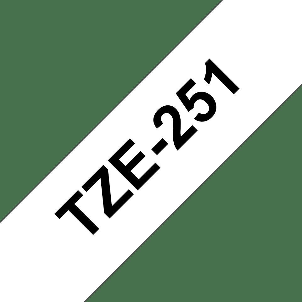 Originele Brother TZe-241 label tapecassette – zwart op wit, breedte 18 mm