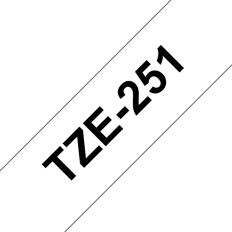 Originele Brother TZe-251 label tapecassette – zwart op wit, breedte 24 mm