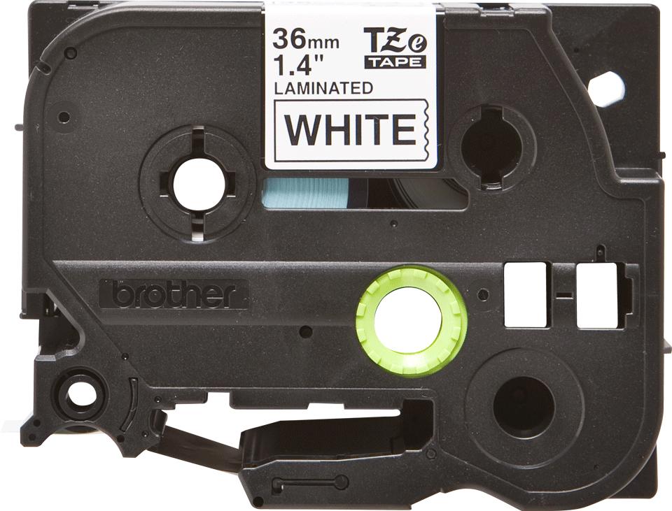 Originele Brother TZe-261 label tapecassette – zwart op wit, breedte 36 mm 2