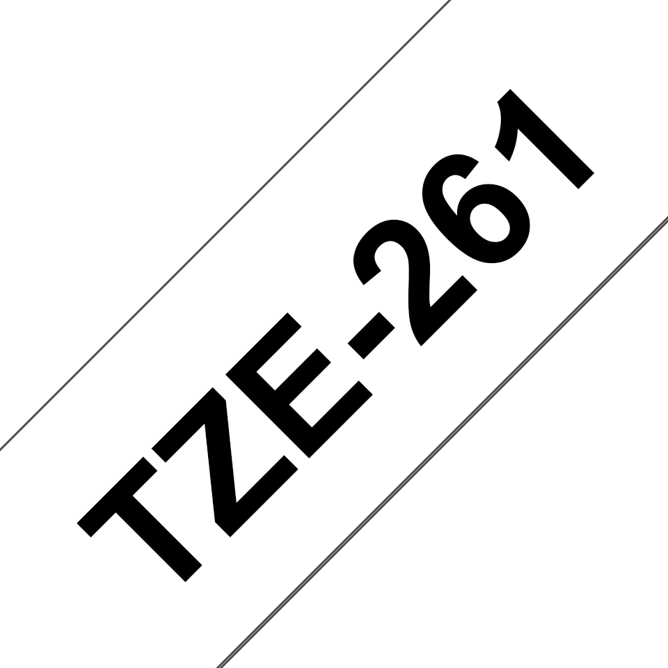 Originele Brother TZe-261 label tapecassette – zwart op wit, breedte 36 mm