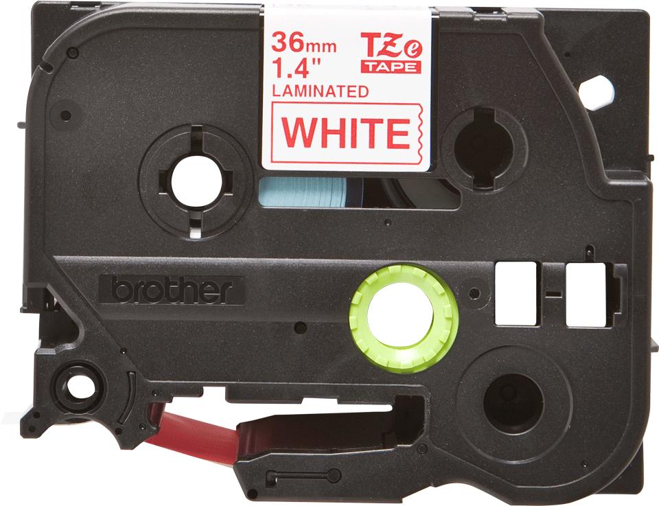 Originele Brother TZe-262 label tapecassette – rood op wit, breedte 36 mm 2