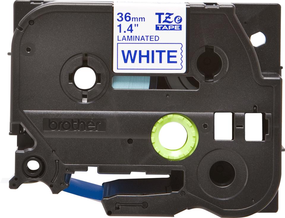 Originele Brother TZe-263 label tapecassette – blauw op wit, breedte 36 mm 2