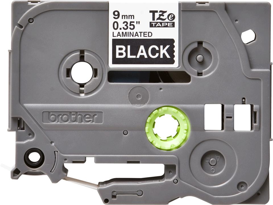 Originele Brother TZe-325 label tapecassette – wit op zwart, breedte 9 mm 2
