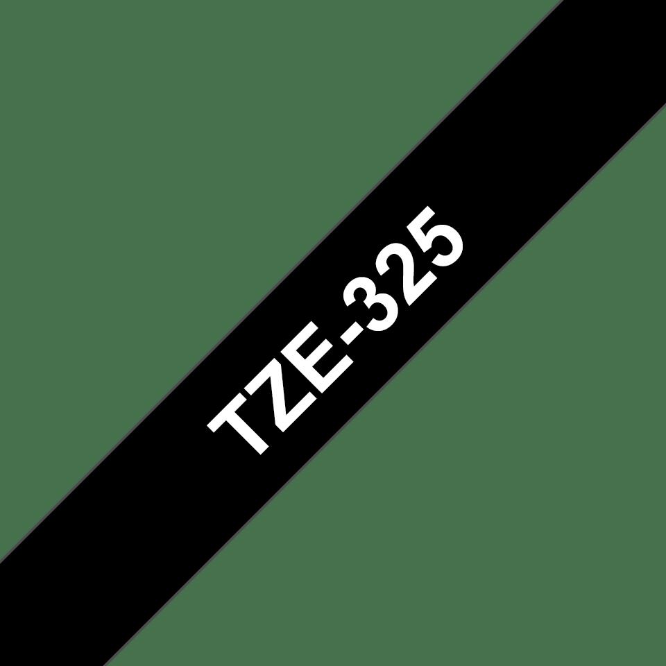 Originele Brother TZe-325 label tapecassette – wit op zwart, breedte 9 mm 3