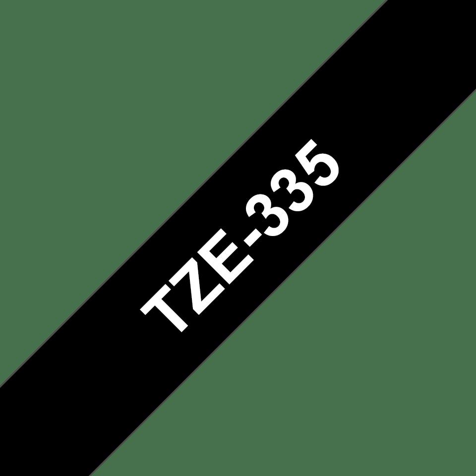 Originele Brother TZe-335 labeltape – wit op zwart, breedte 12 mm 3