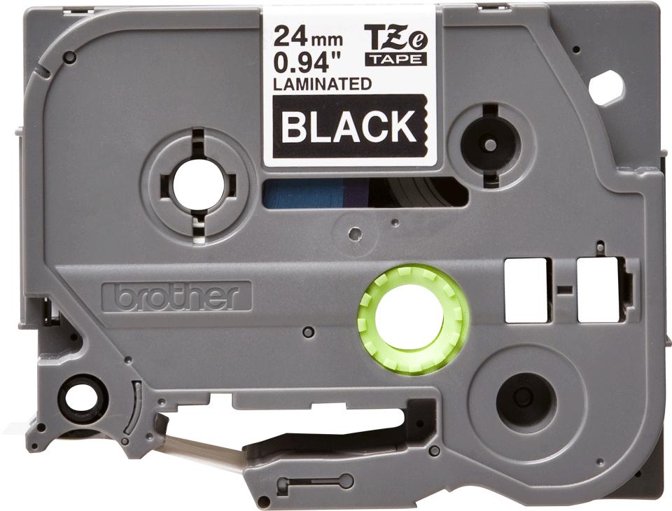 Originele Brother TZe-355 label tapecassette – wit op zwart, breedte 24 mm 2