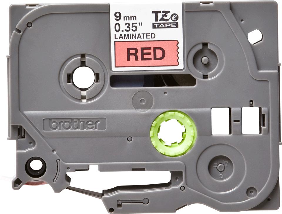 Originele Brother TZe-421 label tapecassette – zwart op rood, breedte 9 mm 2