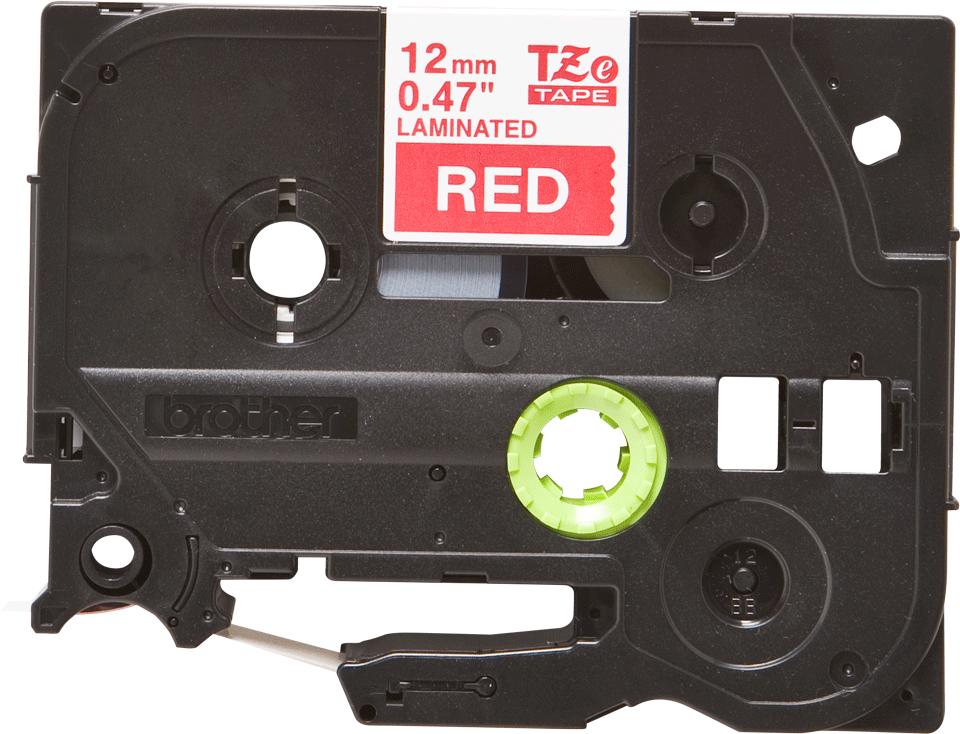 Originele Brother TZe-435 tapecassette – wit op rood, breedte 12 mm 2