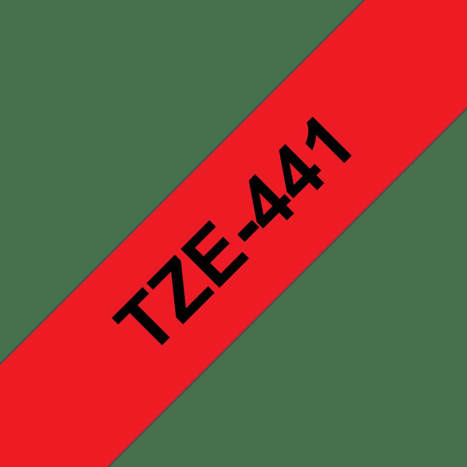 Originele Brother TZe-441 label tapecassette – zwart op rood, breedte 18 mm