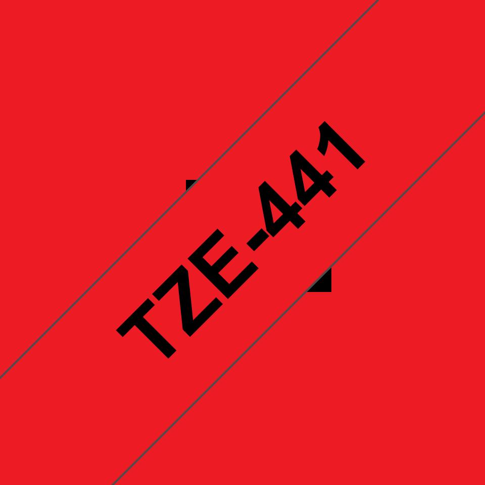 Originele Brother TZe-441 label tapecassette – zwart op rood, breedte 18 mm 3