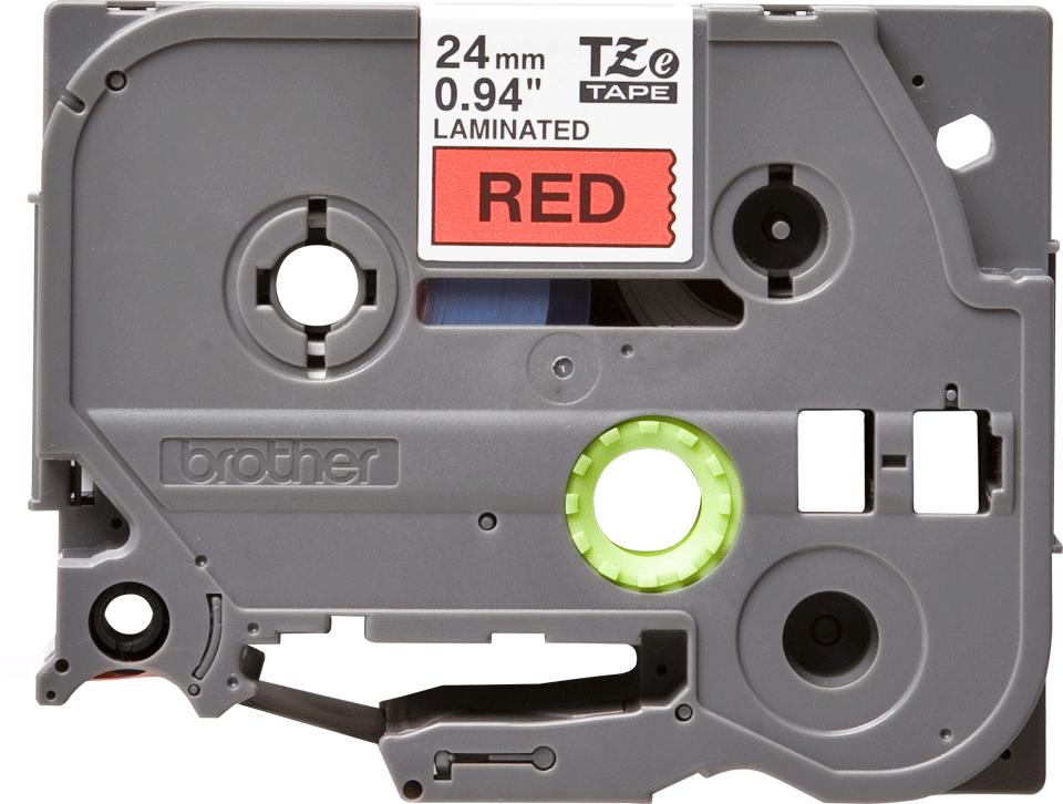 Originele Brother TZe-451 label tapecassette – zwart op rood, breedte 24 mm 2