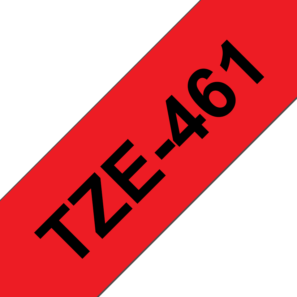 Originele Brother TZe-461 label tapecassette – zwart op rood, breedte 36 mm