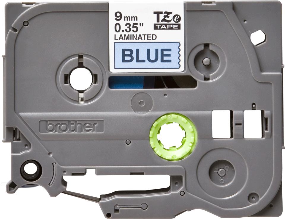 Originele Brother TZe-521 label tapecassette – zwart op blauw, breedte 9 mm