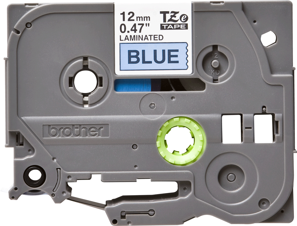 Originele Brother TZe-531 label tapecassette – zwart op blauw, breedte 12 mm 2